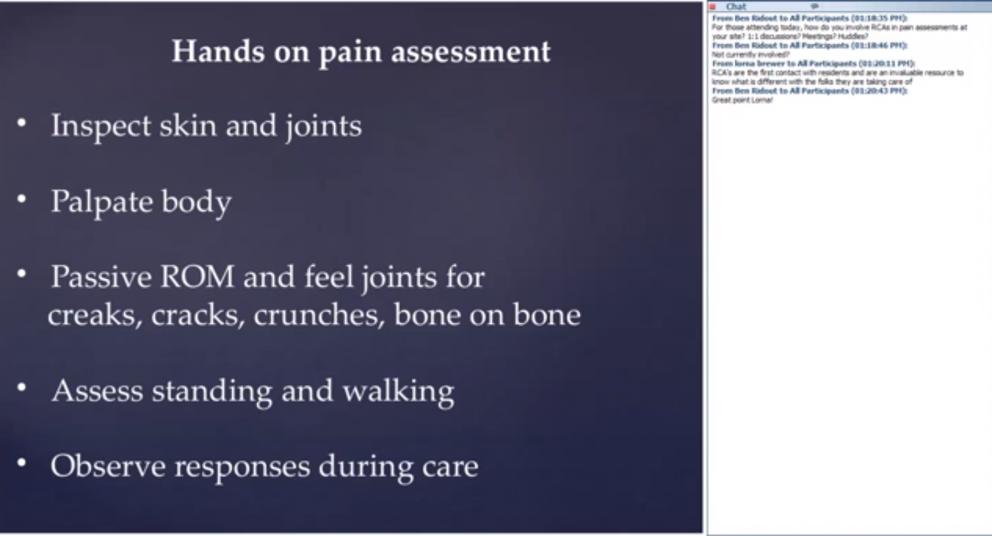 CLeAR Webinar – Pain Management