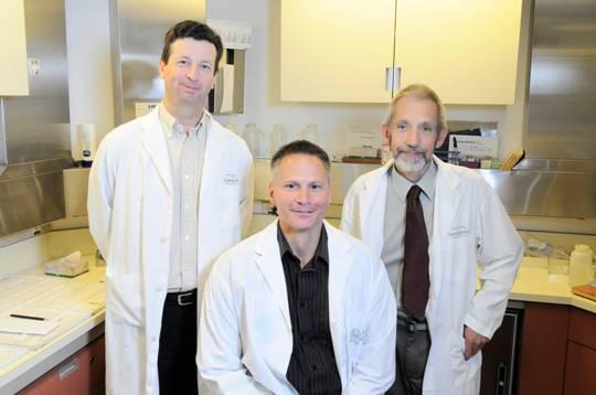 Left to Right : Dr. Blake Gilks, Dr. Robert Wolber, Mr. John Garratt