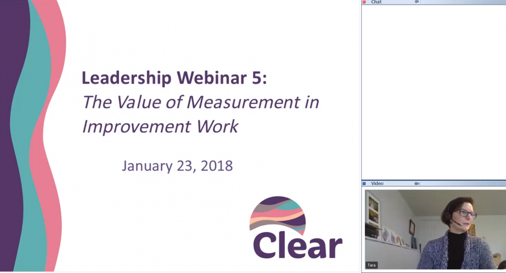 Leadership Preparation Webinar 5: The Value of Measurement in Improvement