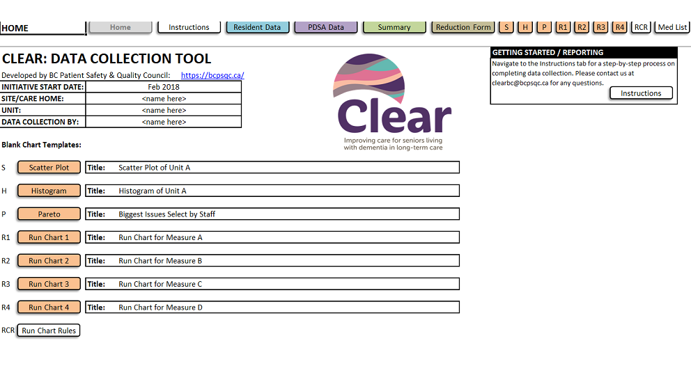 SAMPLE Clear Data Collection Tool – Clear Wave 3