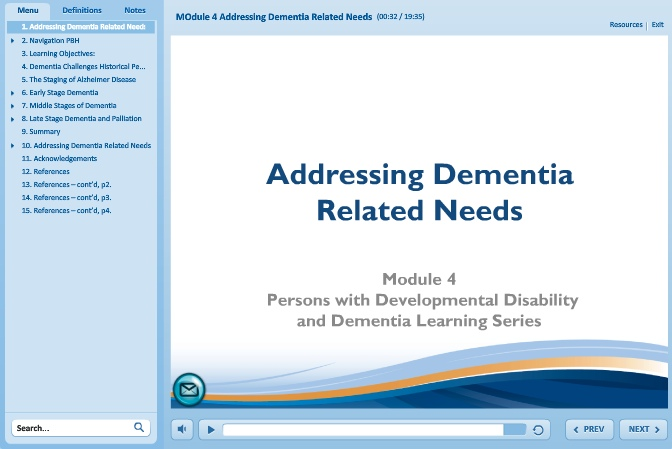 Addressing Dementia Related Needs