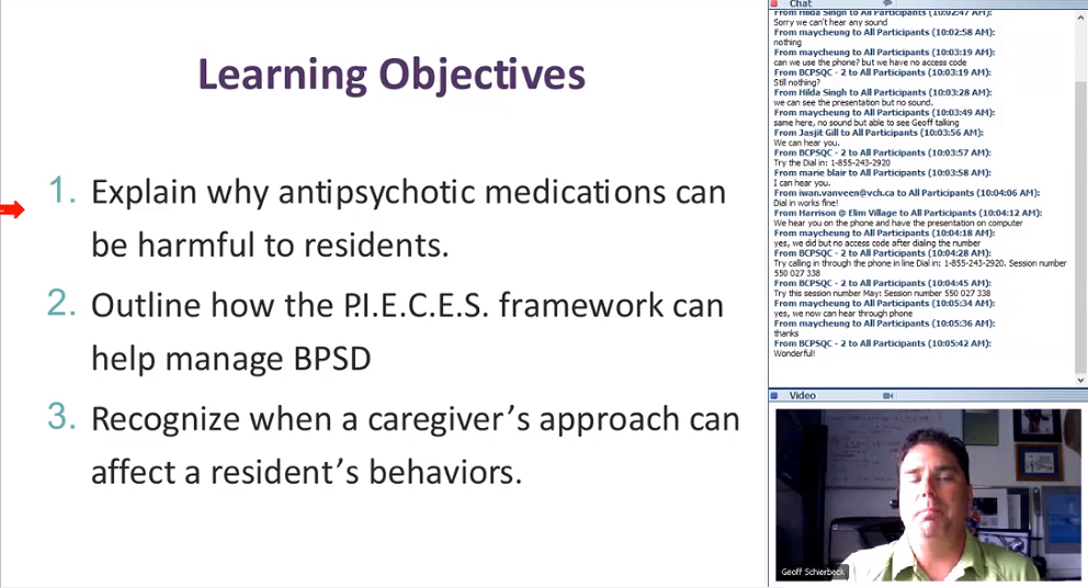 Clear Monthly Webinar: Non-Pharmaceutical Interventions for Managing BPSD