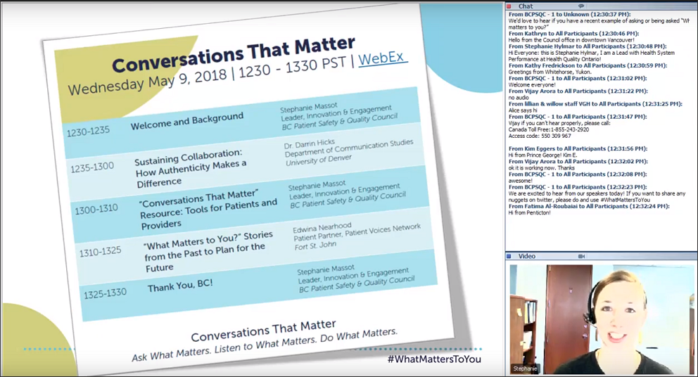 """Conversations That Matter""- May 9 Webinar"