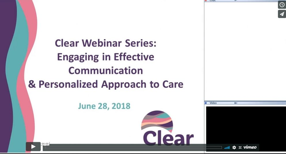 Clear Monthly Webinar: Engaging in Effective Communication