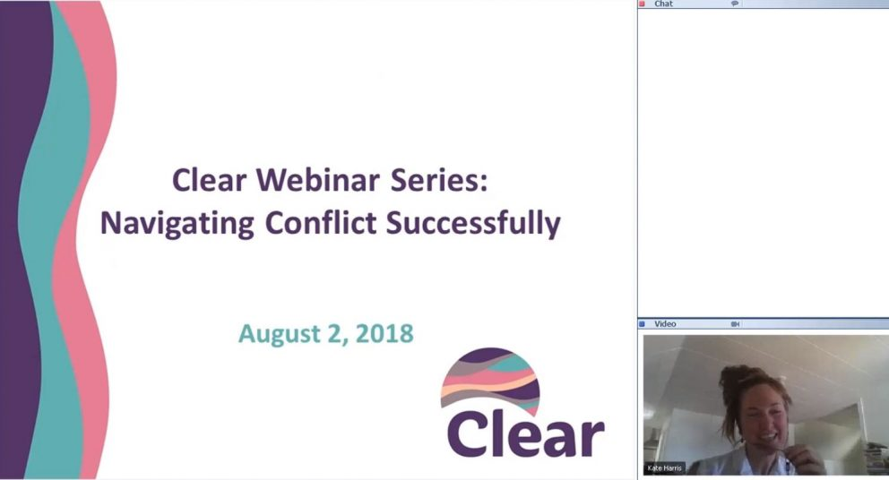 Clear Monthly Webinar: Navigating Conflict Successfully