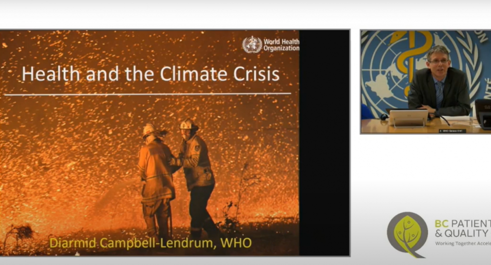 Diarmid Campbell-Lendrum: Health & the Climate Crisis