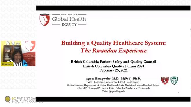 Quality Forum 2021: Plenary Presentation – Agnes Binagwaho