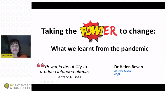 Quality Forum 2021: Plenary Presentation – Helen Bevan
